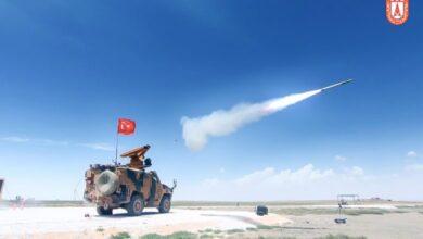 صورة إصابات دقيقة لنظام الدفاع الجوي المحلي التركي SUNGUR
