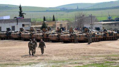 صورة العثور على قواعد إطلاق الصواريخ ضد المعسكر التركي بمنطقة اللواء 30 التابعة للحشد الشعبي