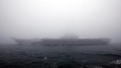 صورة أسرار حاملة الطائرات الصينية بعدسة قمر صناعي