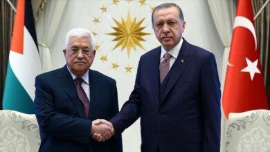 صورة أردوغان يبحث مع عباس وهنية اعتداءات إسرائيل في القدس 