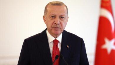 صورة أردوغان يؤكد ضرورة تدخل مجلس الأمن لوقف هجمات إسرائيل 