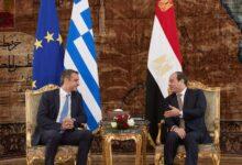 صورة مباحثات مصرية يونانية حول فلسطين وليبيا و سد النهضة