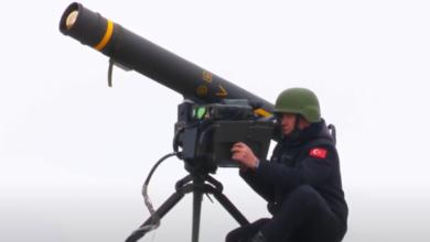 صورة شاهد : نظام الصواريخ الوطني متوسط المدى المضاد للدبابات OMTAS