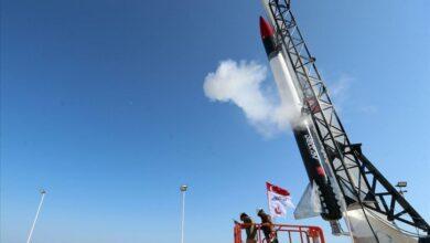 """صورة اختبارات ناجحة لمحرك صاروخ تركي سيستخدم في """"مهمة القمر"""""""