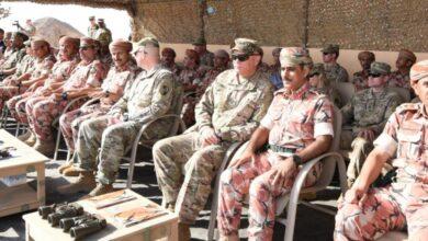"""صورة انطلاق مناورة""""وادي النار""""بين سلطنة عمان والولايات المتحدة"""
