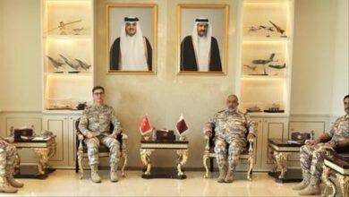 صورة مباحثات تركية قطرية لتعزيز العلاقات العسكرية