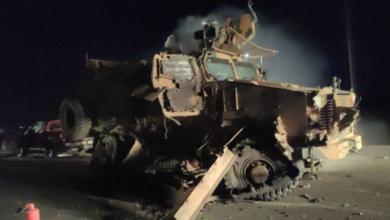 صورة استهداف رتل عسكري تركي في إدلب 